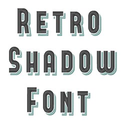 Retro Shadow Font embroidery font