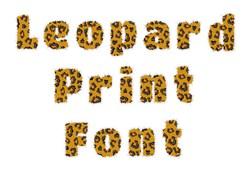 Leopard Print Font embroidery font