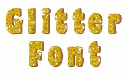 Glitter Font embroidery font