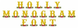 Holly Monogram Font embroidery font