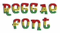 Reggae Font embroidery font
