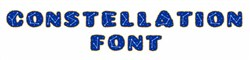 Constellation Font embroidery font