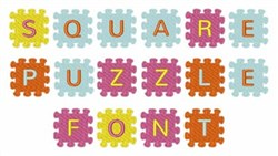 Square Puzzle Font embroidery font