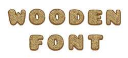 Wooden Font embroidery font
