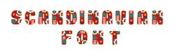 Scandinavian Font embroidery font