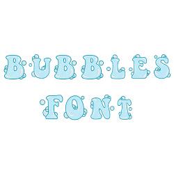 Bubbles Font embroidery font