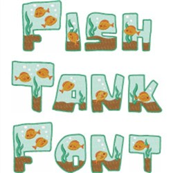 Fish Tank Font embroidery font
