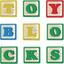 Toy Blocks Font embroidery font