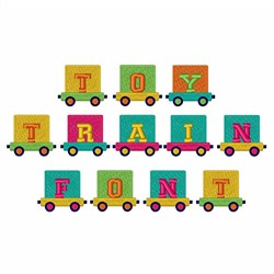 Toy Train Font  embroidery font