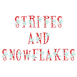 Stripes And Snowflakes Font embroidery font