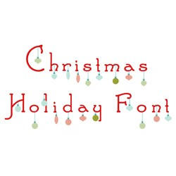 Christmas Holiday Font embroidery font