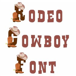 Rodeo Cowboy Font embroidery font
