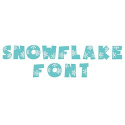 Snowflake Font embroidery font