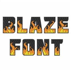 Blaze Font embroidery font