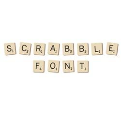 Scrabble Font embroidery font