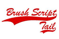 Brush Script MT embroidery font