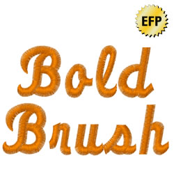Bold Brush embroidery font