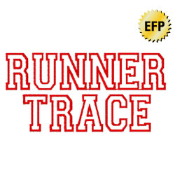 RunTrace embroidery font