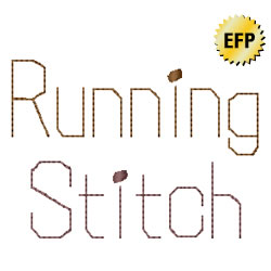 Running Stitch embroidery font