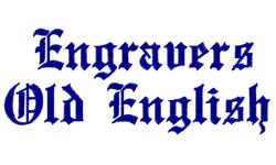 See The Monotype Engravers Old English Characters Font - Engravers