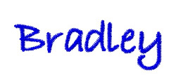Bradley embroidery font