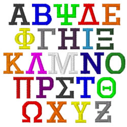 Greek Letters SUTHER by Internet Stitch Home Format Fonts on