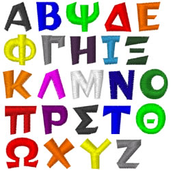 Greek Letters TEAMSPIRIT by Internet Stitch Home Format Fonts on