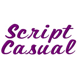 Script Casual Fonts embroidery font