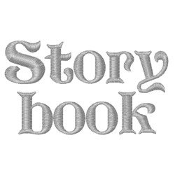 Storybook Fonts embroidery font
