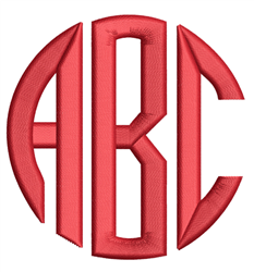 Circle Monogram Font embroidery font