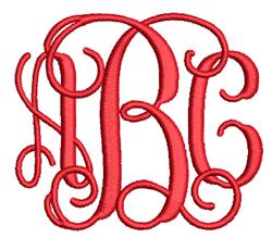 Vine Monogram Interlocking Font embroidery font