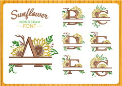 Sunflower Font embroidery font