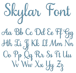Skylar Embroidery Font embroidery font