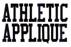 Athletic Applique - Fonts for Machine Embroidery ...