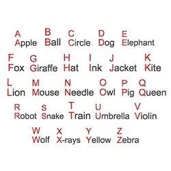 Alphabet Words embroidery font