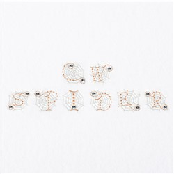Cute Candlewick Spider Alphabet embroidery font
