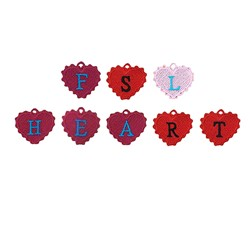 FSL Heart Alphabet Charms embroidery font