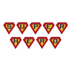 Super Hero Alpha embroidery font