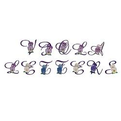 Viola Alpha embroidery font