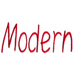 Modern embroidery font