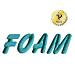 Foam embroidery font