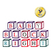 Right Baby Block embroidery font