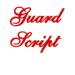 Guard Script embroidery font