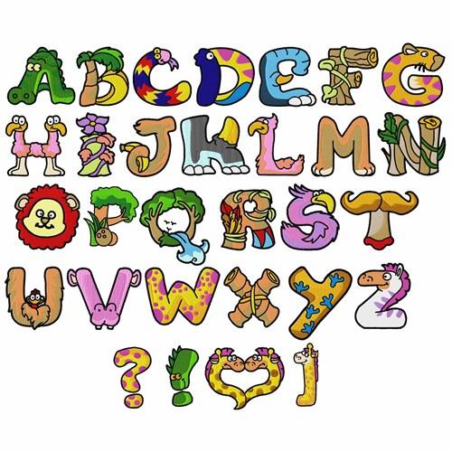 Alphabet Letter Designs Art: Animal Alphabet By DayDream Designs Home Format Fonts On