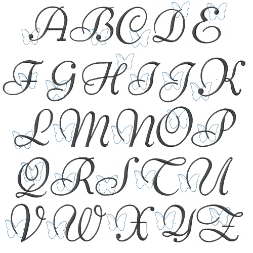 Download Script II Pack by Embroidery Patterns Home Format Fonts ...