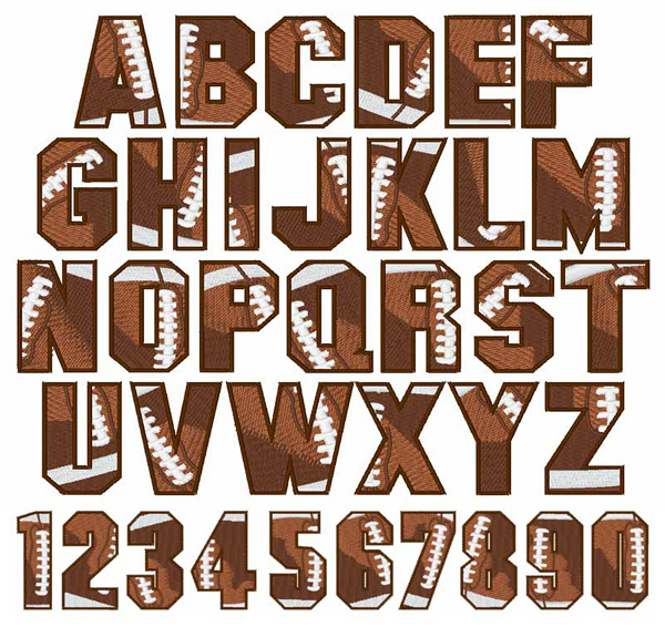 FOOTBALL Font By Embroidery Patterns Home Format Fonts On