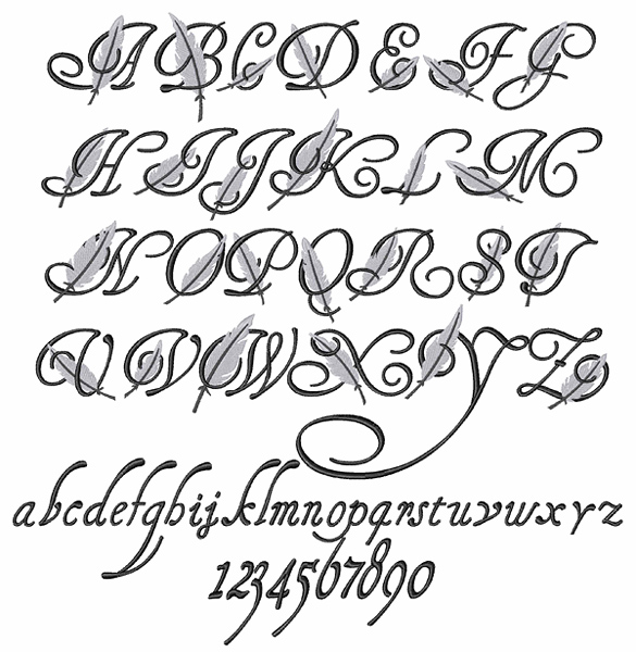 Feather Font By Embroidery Patterns Home Format Fonts On