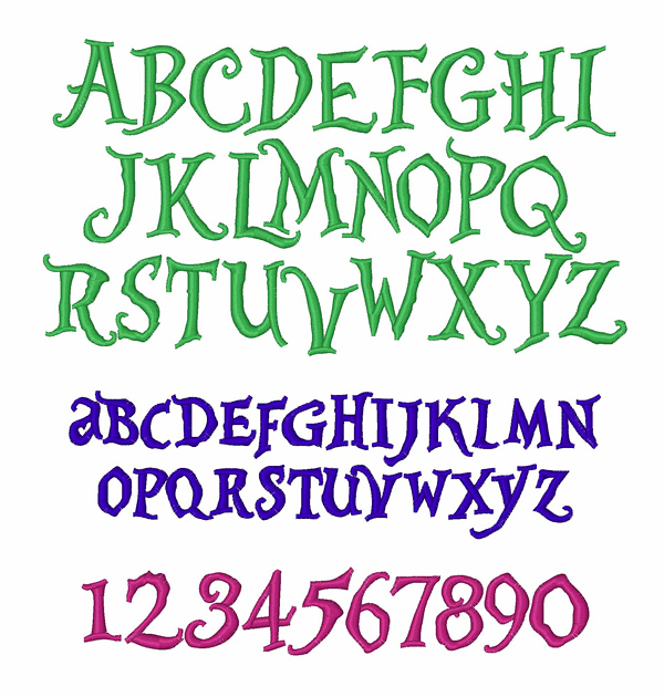 Alice & Wonderland by Embroidery Patterns Home Format Fonts on ...
