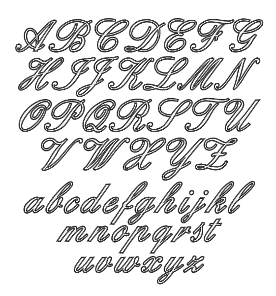 Outline script font by embroidery patterns home format fonts on outline script font embroidery font spiritdancerdesigns Choice Image