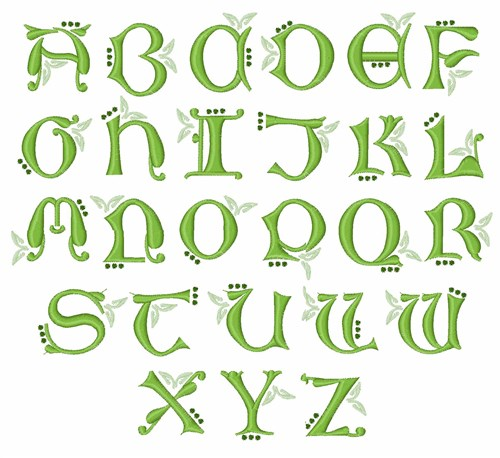 Irish Monogram By Embroidery Patterns Home Format Fonts On